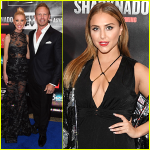 Ian Ziering & Tara Reid Attend 'Sharknado 5' Premiere in Vegas
