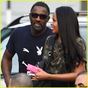Idris Elba Steps Out with Mystery Woman at Manchester Airport!