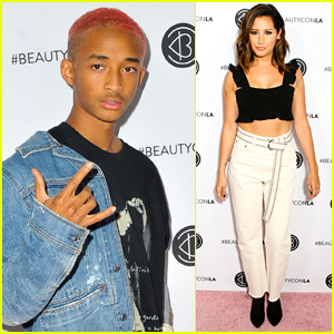 Jaden Smith Shows Off His Pink Hair at Beautycon LA