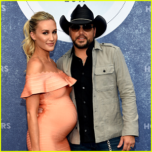 Jason Aldean & Pregnant Wife Brittany Kerr Attend ACM Honors