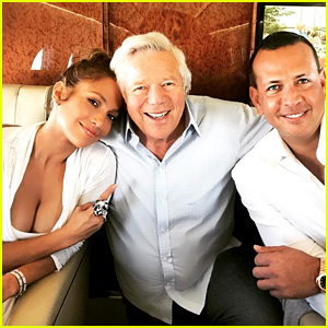 Jennifer Lopez Flies to Vegas with Patriots Owner Robert Kraft