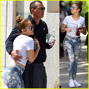 Jennifer Lopez & Alex Rodriguez Stay Fit & Flirty After Working Out Together