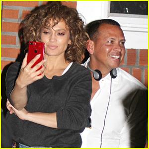 Jennifer Lopez Cozies Up with Boyfriend Alex Rodriguez on Set of 'Shades of Blue'