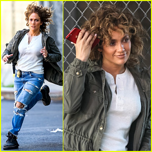 Jennifer Lopez Makes a Run for It on 'Shades of Blue' Set!