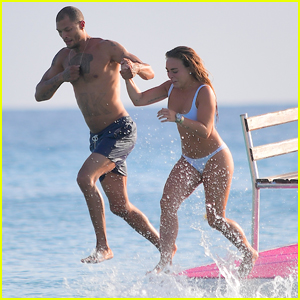 'Hot Felon' Jeremy Meeks & Chloe Green Hit the Beach in Barbados