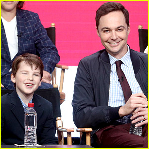 Jim Parsons Introduces 'Young Sheldon' Star Iain Armitage to the Press!