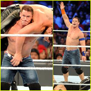 John Cena Goes Shirtless During WWE SummerSlam 2017