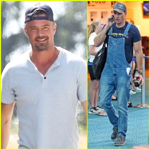 Josh Duhamel & Dax Shepard Arrive on Set of 'Buddy Games'