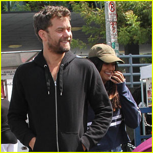 Joshua Jackson Spends Day at Farmer's Market with Mystery Girl