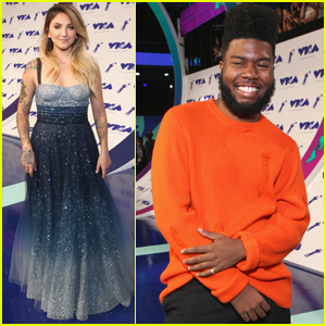 Best New Artists Julia Michaels & Khalid Step Out at MTV VMAs 2017!