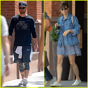 Justin Timberlake & Jessica Biel Kick Off Their Day in NYC