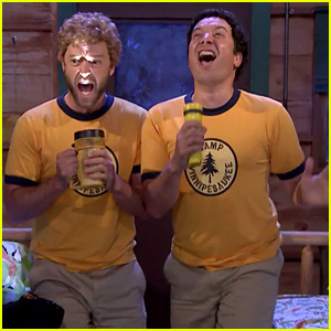 Justin Timberlake Goes Back to Camp with Jimmy Fallon & They Sing Some Classics! (Video)