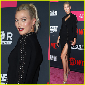 Karlie Kloss Shows Off Some Leg Arriving at the Big Fight