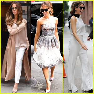 Kate Beckinsale Gets Stylish While Promoting 'The Only Living Boy in New York'