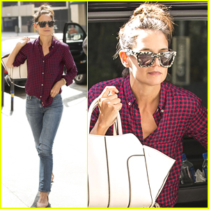Katie Holmes Steps Out for Lunch with Friends in LA