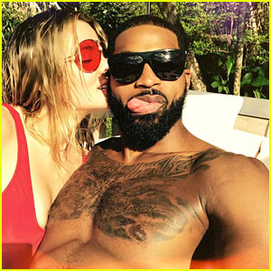 Khloe Kardashian Shares Love For Tristan Thompson In Poolside Selfie