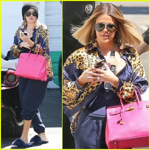 Khloe Kardashian Makes Glam Transformation While at the Studio!