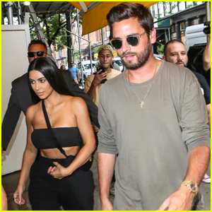 Kim Kardashian & Scott Disick Meet For Lunch in NYC
