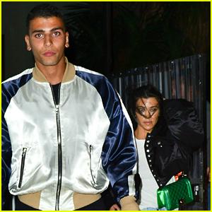 Kourtney Kardashian & Boyfriend Younes Bendjima Couple Up for Late Night Church Service