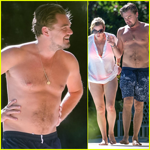 Leonardo DiCaprio Goes Shirtless on Vacation with Kate Winslet in St. Tropez!