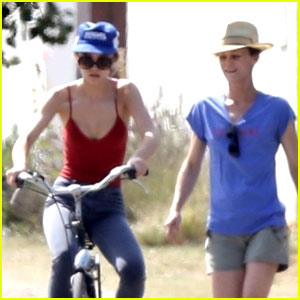 Lily-Rose Depp Gets Bike Riding Lessons From Mom Vanessa Paradis