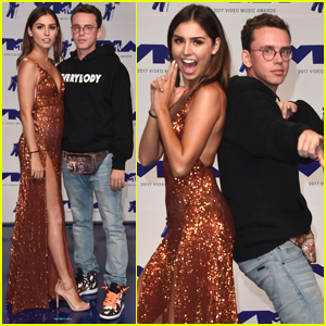 Logic & His Wife Jess Andrea oLogic & His Wife Jess Andrea on the carpet of MTV VMAs n the carpet of MTV VMAs