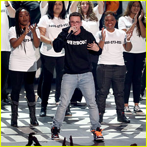 Logic Performs Anti-Suicide Anthem '1-800-273-8255' With Alessia Cara & Khalid at MTV VMAs 2017 - Watch Now!