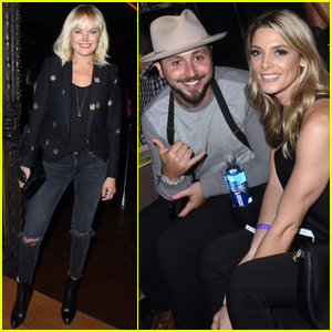 Malin Akerman, Ashley Greene & Fiance Paul Khoury Enjoy Ed Sheeran Concert!