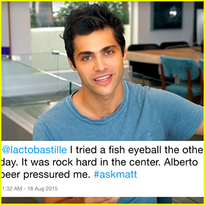 Matthew Daddario Reads His Tweets with Accents for RAW!