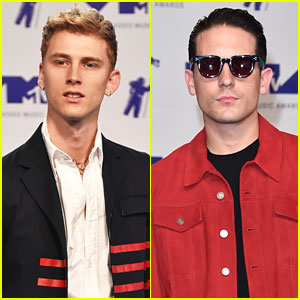Machine Gun Kelly & G-Eazy Look Sharp & Sophisticated on MTV VMAs 2017 Red Carpet