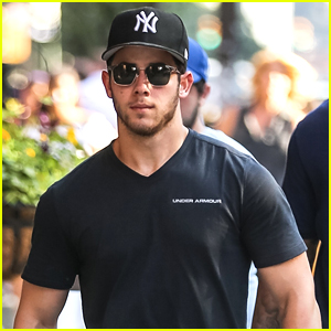 Nick Jonas Supports the Yankees While Out in NYC