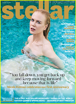 Nicole Kidman Swims In Her Evening Gown for 'Stellar' Cover!