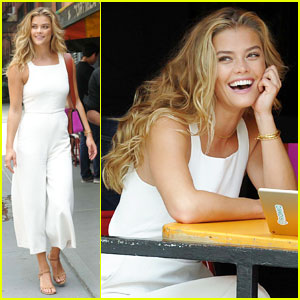 Nina Agdal Is Lady In White For Sunday NYC Stroll!
