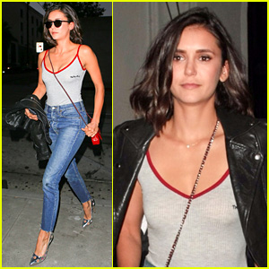 Nina Dobrev Keeps It Comfy & Trendy for Night Out at Craig's