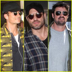 Orlando Bloom, Edgar Ramirez, & Karl Urban All Arrive at LAX Airport at Same Time!