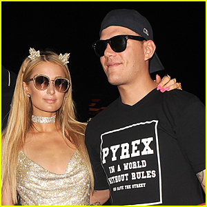 Paris Hilton is Supported by Boyfriend Chris Zylka at Gig in Spain