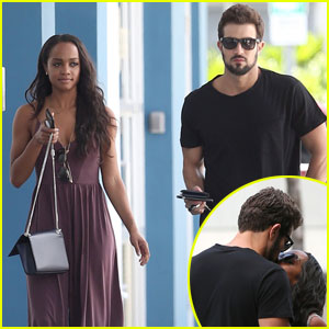 Rachel Lindsay & Bryan Abasolo Share a Kiss in Miami!