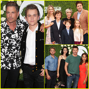 Rob Lowe & Son Matthew Join 'Young Sheldon' Cast at CBS Summer TCA Soiree!