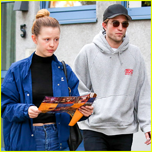 Robert Pattinson Hangs Out with Co-Star Mia Goth in Germany