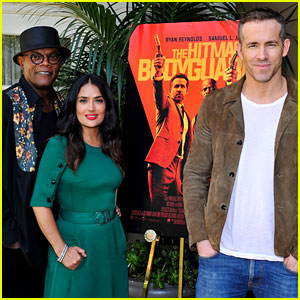Ryan Reynolds, Salma Hayek, & Samuel L. Jackson Promote 'The Hitman's Bodyguard'