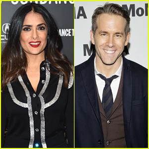 Salma Hayek Juega Niñera & Chef Ryan Reynolds' Casa - Ver la Foto!