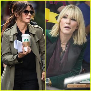 Sandra Bullock & Cate Blanchett Re-Shoot 'Ocean's Eight' Scenes in NYC