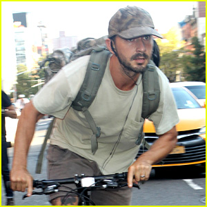 Shia LaBeouf Rides His Bike Around the Big Apple