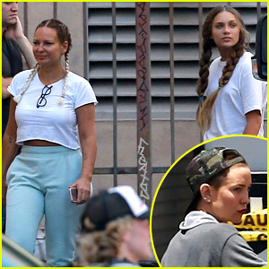 Sia Shows Her Face, Smiles Wide on Set with Kate Hudson & Maddie Ziegler