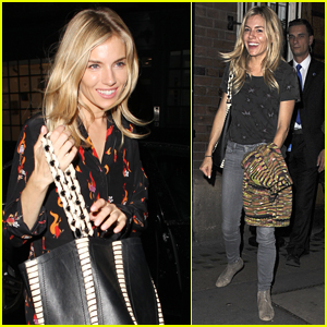 Sienna Miller is All Smiles Arriving at Dinner in London