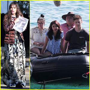 Sofia Vergara & 'Modern Family' Hit Lake Tahoe for Season 8 Premiere Episode!