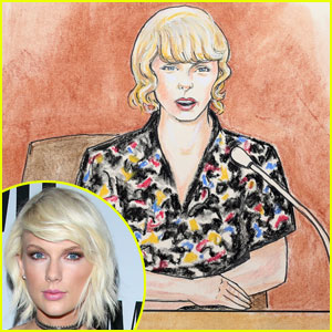 Taylor Swift Takes the Stand in Courtroom Sketch