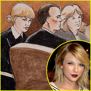 Taylor Swift Pictured in Courtroom Sketches from Trial in Denver