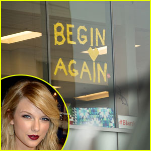 Taylor Swift Sends Flowers to Company Sharing Post-It Messages in Windows Outside of Court House