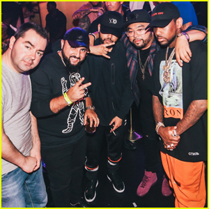 The Weeknd Checks Out a Concert With Friends in Las Vegas!